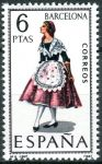 (1967) MiNr. 1707 ** - Španělsko - Šaty (VIII.) Barcelona