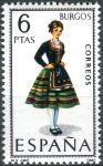 (1967) MiNr. 1709 ** - Španělsko - Šaty (IX.) Burgos