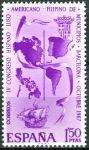 (1967) MiNr. 1710 ** - Španělsko - 4. kongres španělských, portugalských, amerických a filipínských
