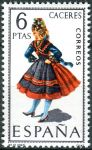 (1967) MiNr. 1719 ** - Španělsko - Šaty (X.) Cáceres