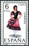 (1967) MiNr. 1723 ** - Španělsko - Šaty (XI.) Cádiz