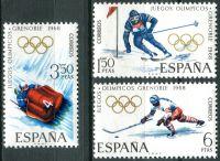 (1968) MiNr. 1735 - 1737 ** - Španělsko - Zimní olympijské hry, Grenoble