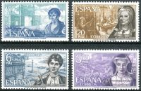 (1968) MiNr. 1750 - 1753 ** - Španělsko - osobnosti