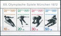 (1971) MiNr. 684 - 687 ** - Německo - BLOCK 6 - Olympijské hry 1972, Sapporo a Mnichov (III)