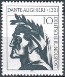 (1971) MiNr. 693 ** - Bundesrepublik Deutschland - 650. Todestag von Dante Alighieri