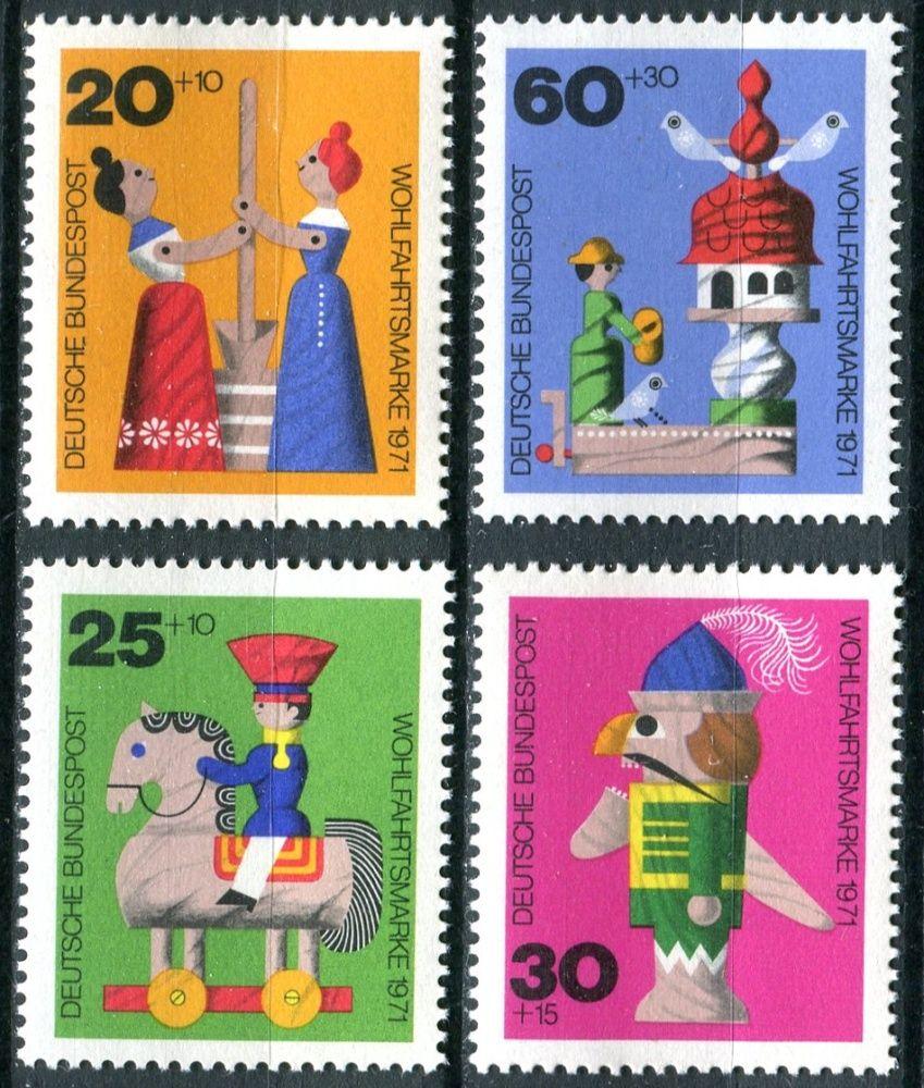 (1971) MiNr. 705 - 708 ** - Německo - Staré dřevěné hračky