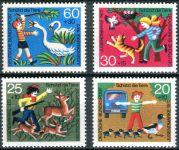 (1972) MiNr. 711 - 714 ** - Německo - dobré životní podmínky zvířat