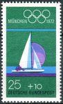 (1972) MiNr. 720 ** - Německo - Letní olympijské hry, Mnichov (IV) - plachtění