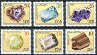 (1974) MiNr. 2006 - 2011 ** - DDR - Minerály ze sbírek Freibergské university (III)