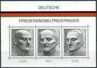 (1975) MiNr. 871 - 873 ** - Bundesrepublik Deutschland - BLOCK 11 - Deutsche Friedensnobelpreisträge