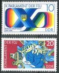 (1976) MiNr. 2133 - 2134 ** - DDR - Parlament der Freien Deutschen Jugend (FDJ), Berlin