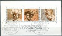 (1978) MiNr. 959 - 961 O - Německo - BLOCK 16 - Nositele Nobelovy ceny: Německá literatura