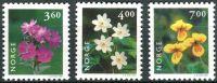 (1999) MiNr. 1303 - 1305 ** - Norsko - Nativní rostliny