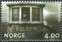 "(1999) MiNr. 1327 ** - Norsko - Milénium (II): rybářská loď ""Bølgen"" (1977)"