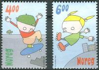 (1999) MiNr. 1329 - 1330 ** - Norsko - dětské hry