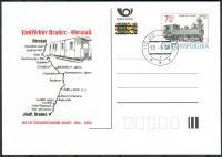 (2006) CDV 107 O - ČR - 100 let úzkorozchodné dráhy Jindřichův Hradec - Obrataň  - razítko