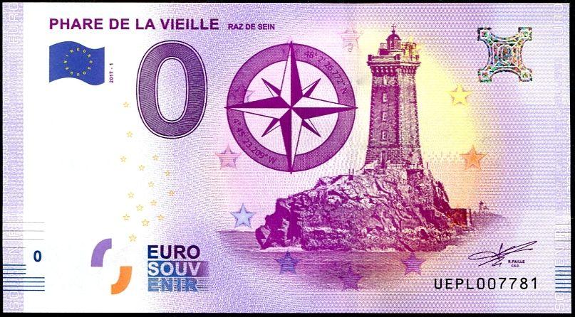 """(2017-1-FR) Francie - Maják """"La Vieille"""" - € 0,- pamětní suvenýr"""