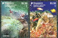 (2017) MiNr. 2478 - 2479 ** - Singapur - Přátelství s Indonésií: korálový útes
