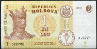 Moldavsko - (P 21) 1 Leu (2015) - UNC