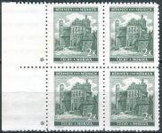 (1940) č. 44 ** - B.u.M. - 4-bl - levý o. - Krajiny, hrady a města - Pardubice - d.z.+