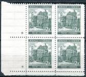 (1940) č. 44 ** - B.u.M. - 4-bl - úzký o. - Krajiny, hrady a města - Pardubice - d.z.*
