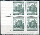 (1940) č. 44 ** - B.u.M. - 4-bl - úzký o. - Krajiny, hrady a města - Pardubice - d.z.+