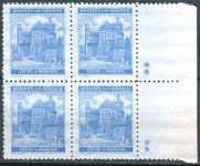 (1941) MiNo. 70 ** - B.u.M. - 4-er - Landscapes, castles, towns - Pardubice d.z. ++