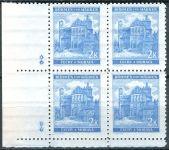 (1941) č. 59 ** - B.u.M. - 4-bl - úzký o. - Krajiny, hrady, města - Pardubice - d.z. **