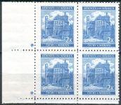 (1941) č. 59 ** - B.u.M. - 4-bl - úzký o. - Krajiny, hrady, města - Pardubice - d.z. +