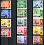 (1967) MiNr. 188 - 201 ** - Gibraltar - Lodě a Královna Alžběta II - č. 192 vada lepu!