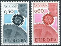 (1967) MiNr. 199 - 200 ** - Andora (Fr.) - Europa