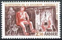 (1967) MiNr. 203 ** - Andora (Fr.) - 1. výročí zavedení sociálního zabezpečení