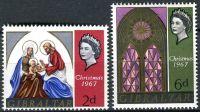 (1967) MiNr. 205 - 206 ** - Gibraltar - Vánoce