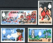 (1967) MiNr. 207 - 210 ** - Gibraltar - 250. narozeniny generála George Augusta Eliotta