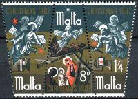 (1967) MiNr. 364 - 366 ** - Malta - 3-bl - Vánoce