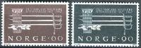 (1967) MiNr. 553 - 554 ** - Norsko - 150 let vojenské akademie