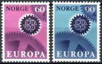 (1967) MiNr. 555 - 556 ** - Norsko - Europa