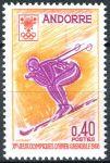 (1968) MiNr. 207 ** - Andora (Fr.) - Zimní olympijské hry, Grenoble
