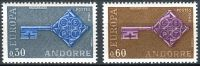 (1968) MiNr. 208 - 209 ** - Andora (Fr.) - Europa