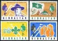 (1968) MiNr. 211 - 214 ** - Gibraltar - 60 let Skautů na Gibraltaru