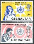 (1968) MiNr. 215 - 216 ** - Gibraltar - 20 let Světová zdravotnická organizace (WHO)