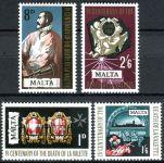 (1968) MiNr. 376 - 379 ** - Malta - 400. výročí úmrtí Jeana de la Valette
