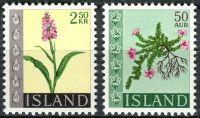 (1968) MiNr. 415 - 416  **- Island - květiny