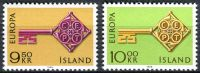 (1968) MiNr. 417 - 418  **- Island - Europa