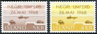 (1968) MiNr. 419 - 420  **- Island - Zavedení právních úkonů na Islandu dne 26.5.1968
