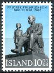 (1968) MiNr. 421 **- Island - 100. narozeniny Fridrika Fridrikssona