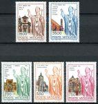 (1991) MiNr. 1046 - 1050 ** - Vatikán - Světové cesty papeže Jana Pavla II. (1990)