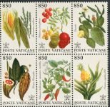 (1992) MiNr. 1064 - 1069 ** - Vatikán - 6-bl - Rostliny z Ameriky