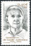 (2003) MiNr. 3683 ** - Francie - 1. výročí smrti Geneviève de Gaulle-Anthonioz