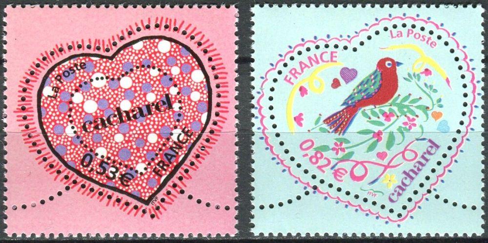 (2005) MiNr. 3898 - 3899 ** - Francie - svátek svatého Valentýna